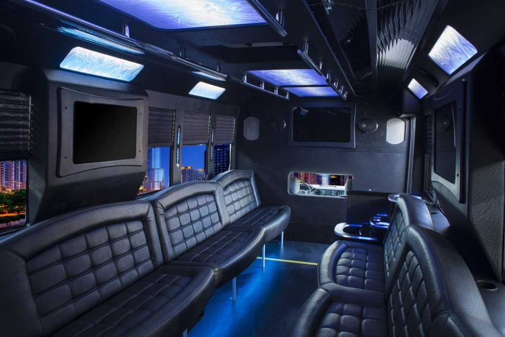 Ford 20 passenger limo party bus inside 03