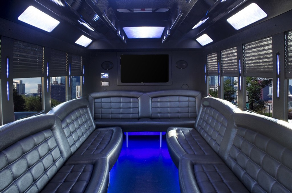 Ford 20 passenger limo party bus inside