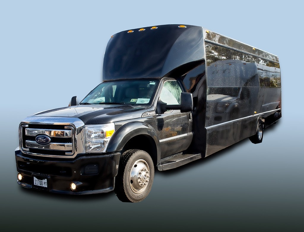 Ford 25 Passenger Limo Party Bus Drivers Side